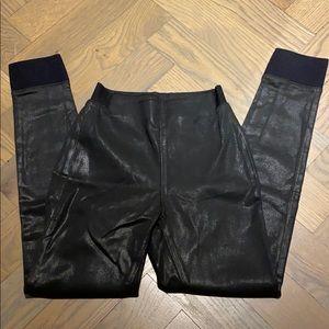 Rag and Bone Coated Black leggings